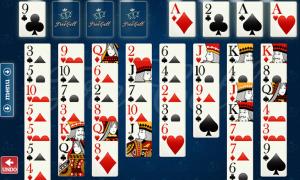 Mesa com cartas de Freecell
